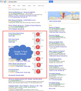 Google Search Engine Map Results - 7-Pack